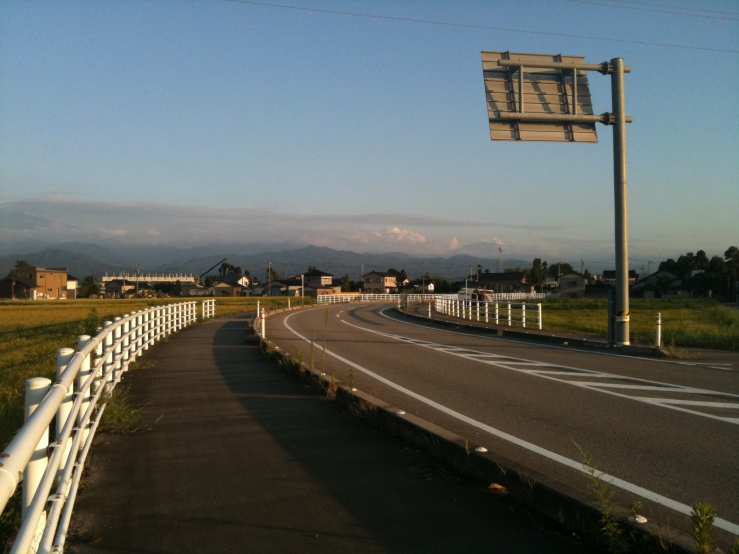 A main road leading to my town.