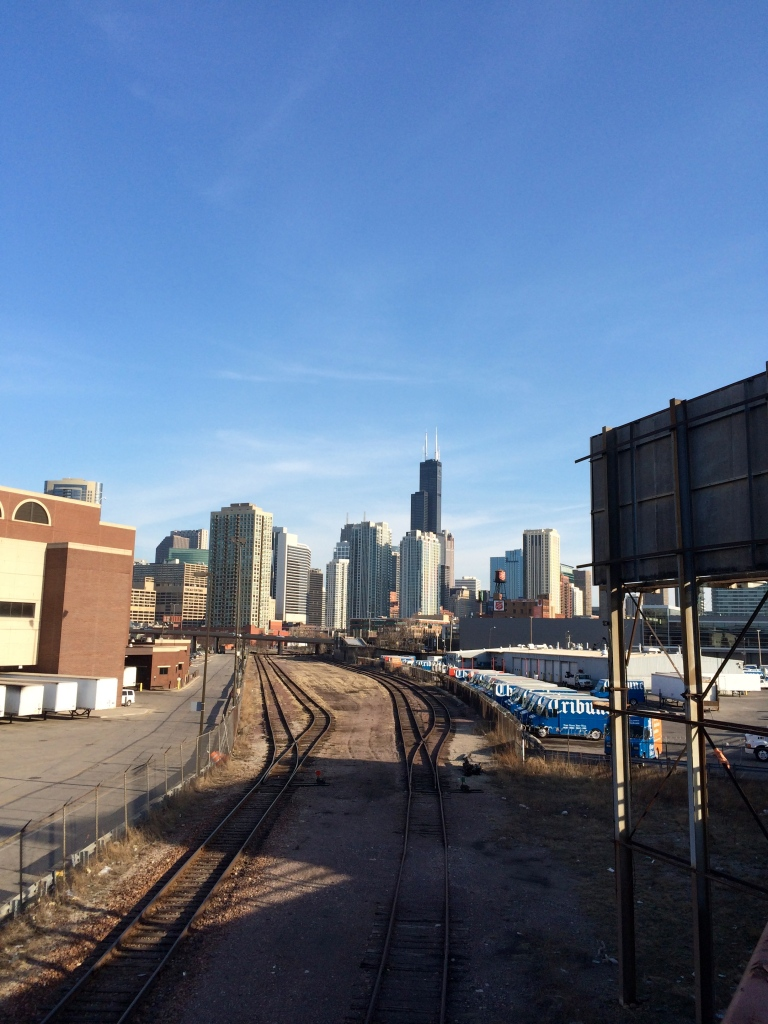 I love seeing Chicago's skyline from various views throughout the city. This was taken near the intersection of Chicago & Halsted.