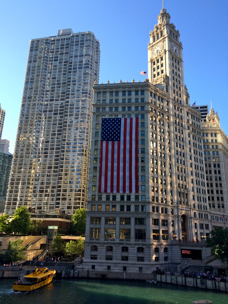 Michigan Avenue & Wacker Drive, Chicago, July 4, 2014.